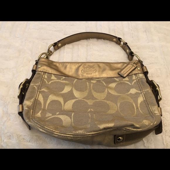 Metallic Gold Coach handbag